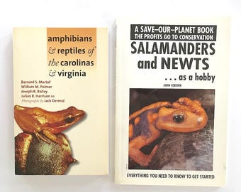 Two vintage books -- Salamanders and Newts as a Hobby 1993, and Amphibians and Reptiles of the Carolinas and Virginia 1980