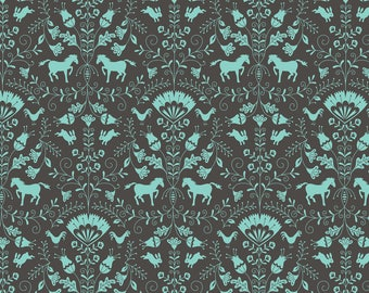 Hill & Dale - Thistle in Grey by Ana Davis for Blend Fabrics