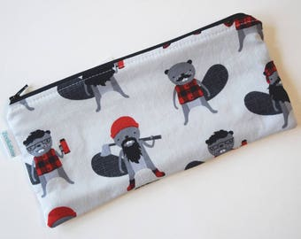 Cute Pencil Pouch - Birthday Gift for Kids - Pen Pouch - Colored Pencil Storage - Fabric Pencil Case - Zipper Pouch - Back to School
