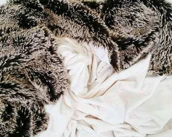 "adult sized minky blanket, the mama bear blanket, throw blanket, 60""x60"""