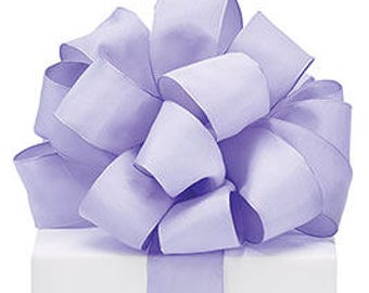5+ Yards Lavender Light Purple Taffeta Ribbon - #9 - 1.5 Inch - Wired Edge - 5 Yards