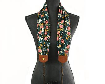 scarf camera strap beaming bouquet - BCSCS114