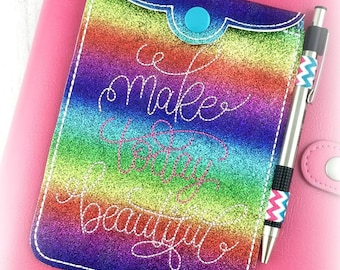 Make Today Beautiful Snap Pocket Buggaband Embroidery Design
