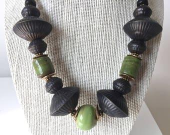 Boho African Bead Handmade Necklace