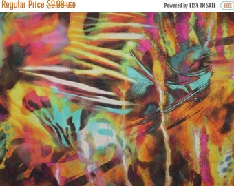 ON SALE SPECIAL--Rich Colorful Abstract Print Polyester Chiffon Fabric--One Yard