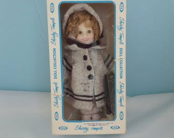 """Shirley Temple Doll 1982 by Ideal """"Dimples"""" Vinyl 8 Inch"""