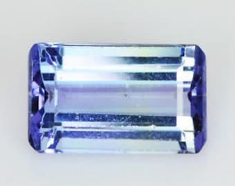 TANZANITE (35630) * * *  Emerald Cut  Medium Blue Tanzanite -  Nice !