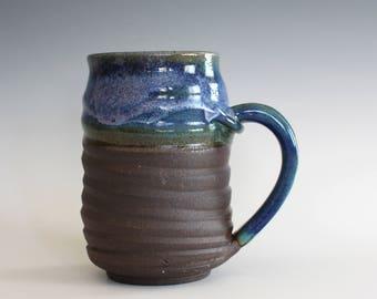 OCPottery Coffee Mug, 17 oz, Pottery Coffee Mug, handthrown ceramic mug, stoneware pottery mug, unique coffee mug