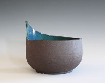 Unique Pottery Bowl, Handmade Ceramic Modern Bowl, pottery bowl, handthrown stoneware