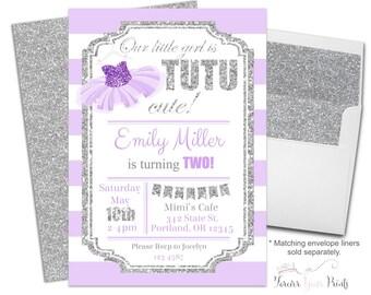Tutu Birthday Invitation - Tutu Party Invitation - Tutu Invitation - Ballerina Invitation - Ballerina Party - Ballerina Invite - Tutu Cute