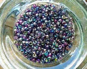 Matsuno Seed Beads, 8/0, Magic Blueberry, 3 Inch tube per bag, Priced per tube
