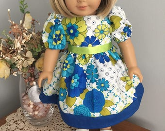 American Girl Doll Clothes - Brightly Colored Flower Dress
