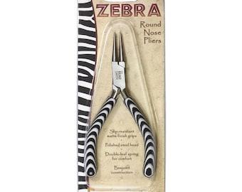 Round Nose Pliers by Beadsmith, Zebra