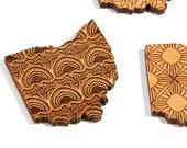 Ohio / Maple Wood Coaster Set