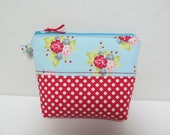 "Zipper Pouch/6.5""x8""/Flower x Dot"