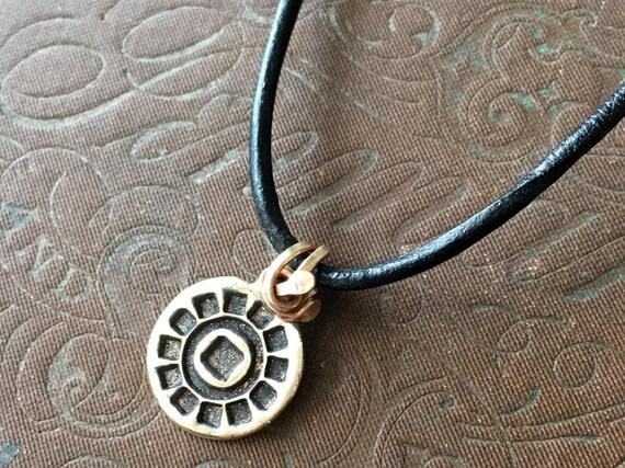 Leather Pendant Necklace | Mandala Pendant | Unisex Necklace
