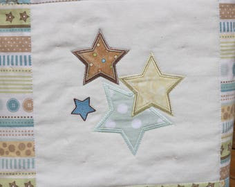 Twinkle Twinkle Little Star Baby Quilt, Crib Quilt, Baby Blanket, Applique Baby Quilt