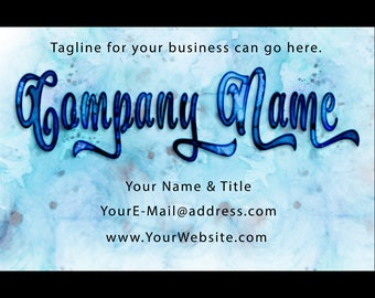 Premade Custom Font Business Card by SpunkyDiva
