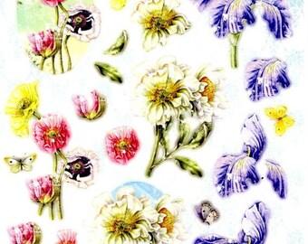 113 - 1 leaf studio light images die cut flowers and butterflies
