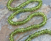 Peridot Rondelles, Smooth Rondelles, Peridot Beads, 4mm, 13 inch strand