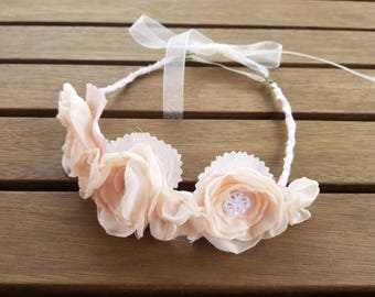 Upcycled flower girl crown