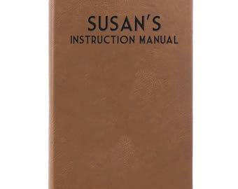 Leather Journal-Personalized Instruction Manual 31700