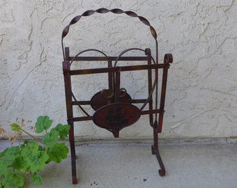 Vintage Metal Magazine Rack