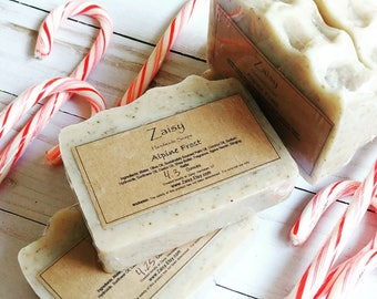 Alpine Frost Soap, Holiday Beauty, Gift Ideas, Christmas Tree Scented, Nettle Leaf Natural Colorant, Handmade Skincare