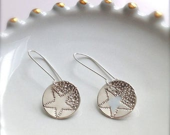 SALE Shooting Star Sterling Silver Earrings