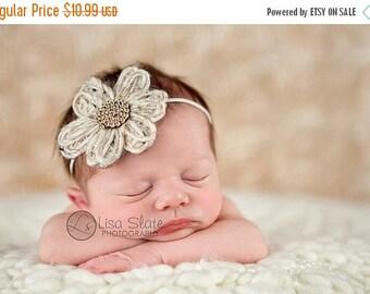 10% SALE Baby headband, newborn headband, adult headband, child headband and photography prop The knit daisy sprinkle headband
