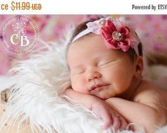 10% SALE Baby headband, newborn headband, adult headband, child headband and photography prop The sprinkled CHARLEA flower headband