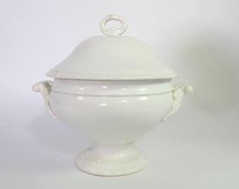 Antique French Porcelain Soup Tureen Fine and Elegant  c. 1890-1910