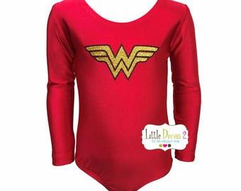 Wonder Women Leotard (Child) Long Sleeve Leotard