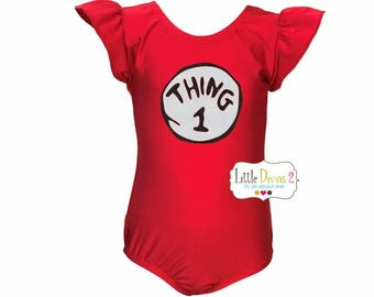 Thing 1 .2.or 3 (Red Leotard)..Costume for Halloween...YOUR CHOICE
