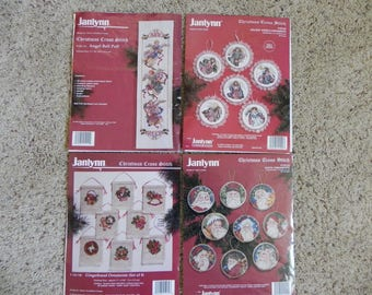 Janlynn Christmas Ornaments and Angel Bell Pull Cross Stitch Charts