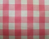 Vintage Cottage Chic Pink & White Gingham Check Cotton Fabric