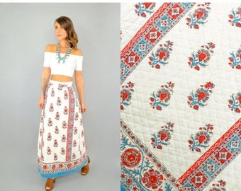 SUMMER SALE 70's Bohemian Maxi Skirt