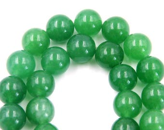 10mm 75Pcs Green Aventurine Gemstone Beads Loose Finding For Handwork-- ja2073