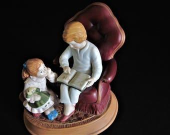 Christmas Memories, Avon Porcelain Decor, Avon Christmas, Avon Night Before, Avon Figurine, Christmas Tradition, Christmas Reading, Memories