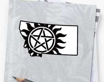 Vinyl Sticker - Montana Supernatural State