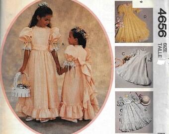 McCall's 4656 Kitty Benton Girl's PARTY DRESS & Sash Sewing Pattern UNCUT Size 6