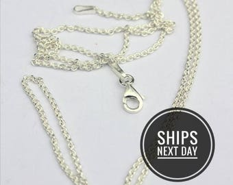 18 or 20 or 22 or 24 or 30 inch Long Sterling Silver Chain, chain White Lilie Designs Order, Long Sterling Chain, Silver long Chain