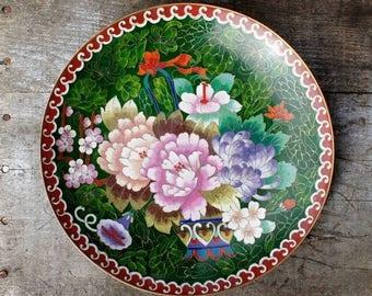 Japanese Cloisonne Plate Turn of Century