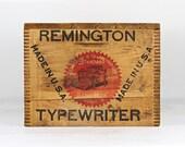 Reserved Vintage Remington Typewriter Wood Crate, Remington Typewriter Crate, Typewriter Wood Crate, Vintage Typewriter Crate Wooden Crate