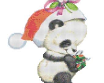 A Christmas Panda Cross Stitch Pattern