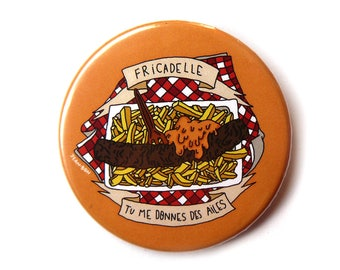 fricadelle button pins illustration
