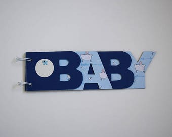 Album photo Baby bleu. Bébé dans le bain. Idéal cadeau de naissance