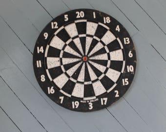 Game of Darts...Vintage Dart Board, Game Night, Baseball