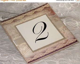 March Sale Vintage Style Wedding Table Numbers Cards by Vintage Paris Market Wedding Table Card