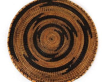 Tutsi Basket Tight Weave Flat Rwanda African Art 5 Inch 105633